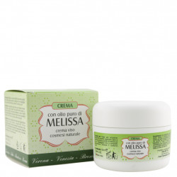 Crema con olio puro di Melissa per Viso 50 ml