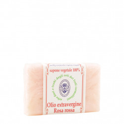 Sapone Olio Extravergine di Oliva e Rosa Rossa 100 g