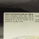 Confettura di Frutti di Bosco Trappiste di Vitorchiano valori nutrizionali