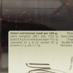 Confettura di Lamponi Trappiste di Vitorchiano valori nutrizionali