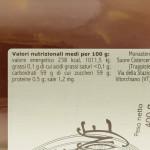 Confettura di Mela e Limone Trappiste di Vitorchiano valori nutrizionali