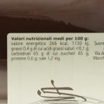 Confettura di Uva Spina di Vitorchiano valori nutrizionali