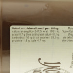 Crema di Marroni Trappiste di Vitorchiano valori nutrizionali