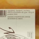 Marmellata di Mandarino Trappiste di Vitorchiano ingredienti