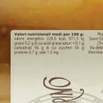 Marmellata di Mandarino Trappiste di Vitorchiano valori nutrizionali