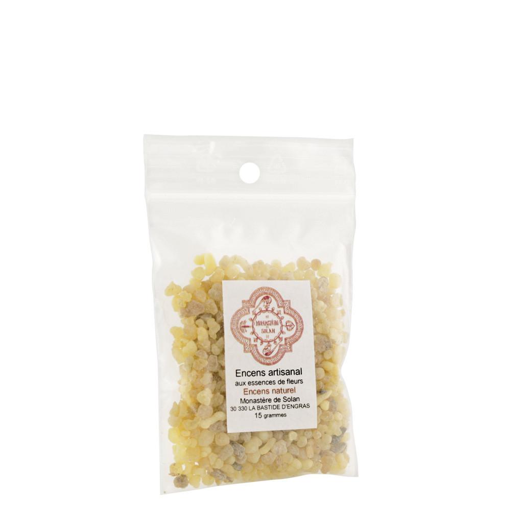 Natural raw incense, in grains
