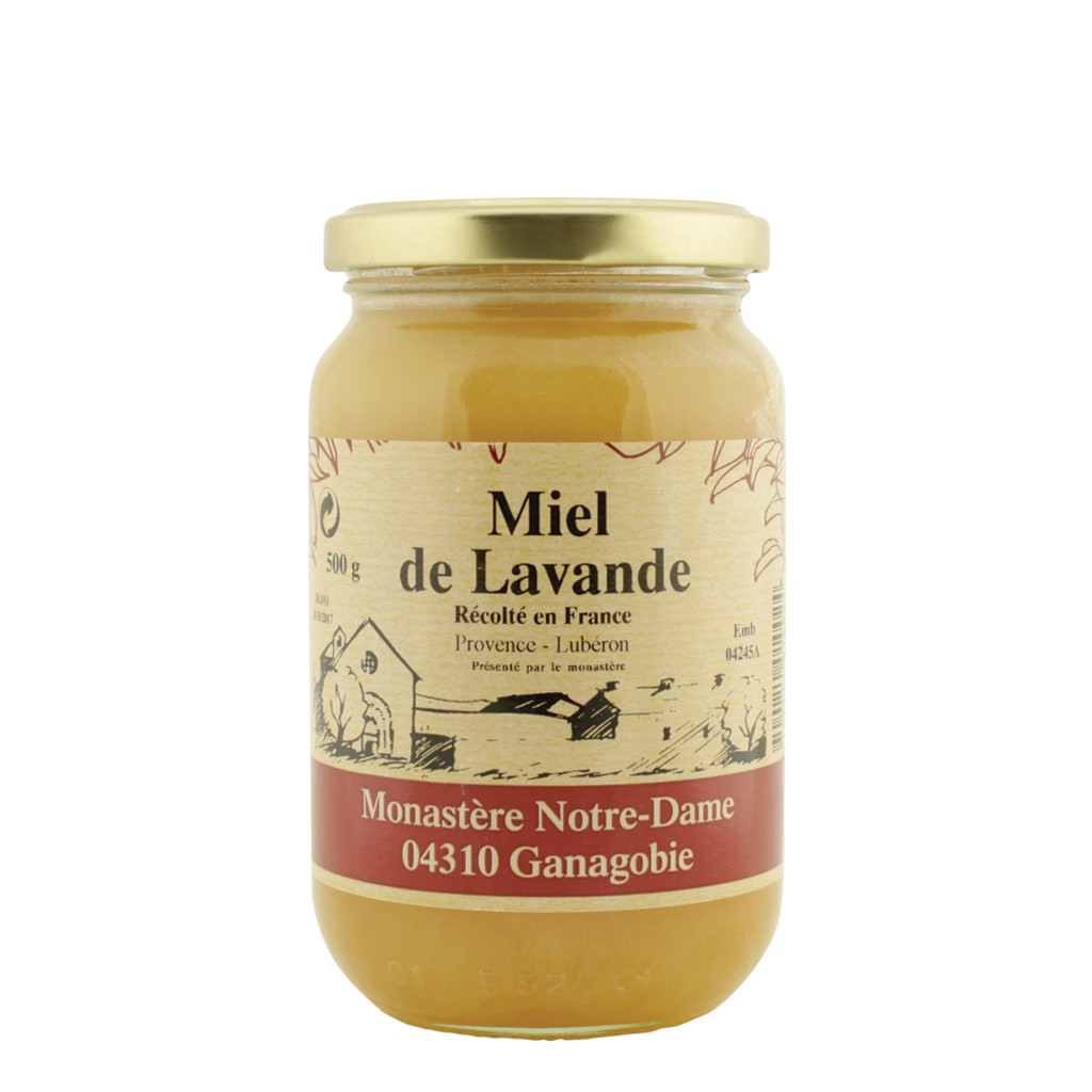 Lavender Honey of the Monastery Notre-Dame of Ganagobie France 500g