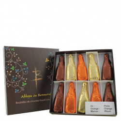 "Chocolates ""Bouteilles"" filled with liqueur 100 g"
