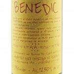 Benedic Vino Rosso delle Suore Trappiste di Vitorchiano - Etichetta