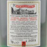 Gran Liquore Anthemis Abbazia di Montevergine etichetta retro