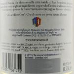 Birra Nursia Bionda bottiglia grande etichetta retro