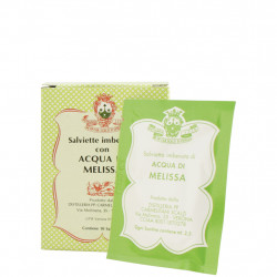 In Melissa-Wasser getränkte Tücher, Packung 10 Stück