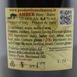 Birra Cascinazza Amber etichetta retro