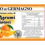 Confettura Agrumi Interi Monaci del Monastero Germagno valori nutrizionali