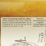 Marmellata di Arance Trappiste di Vitorchiano valori nutrizionali