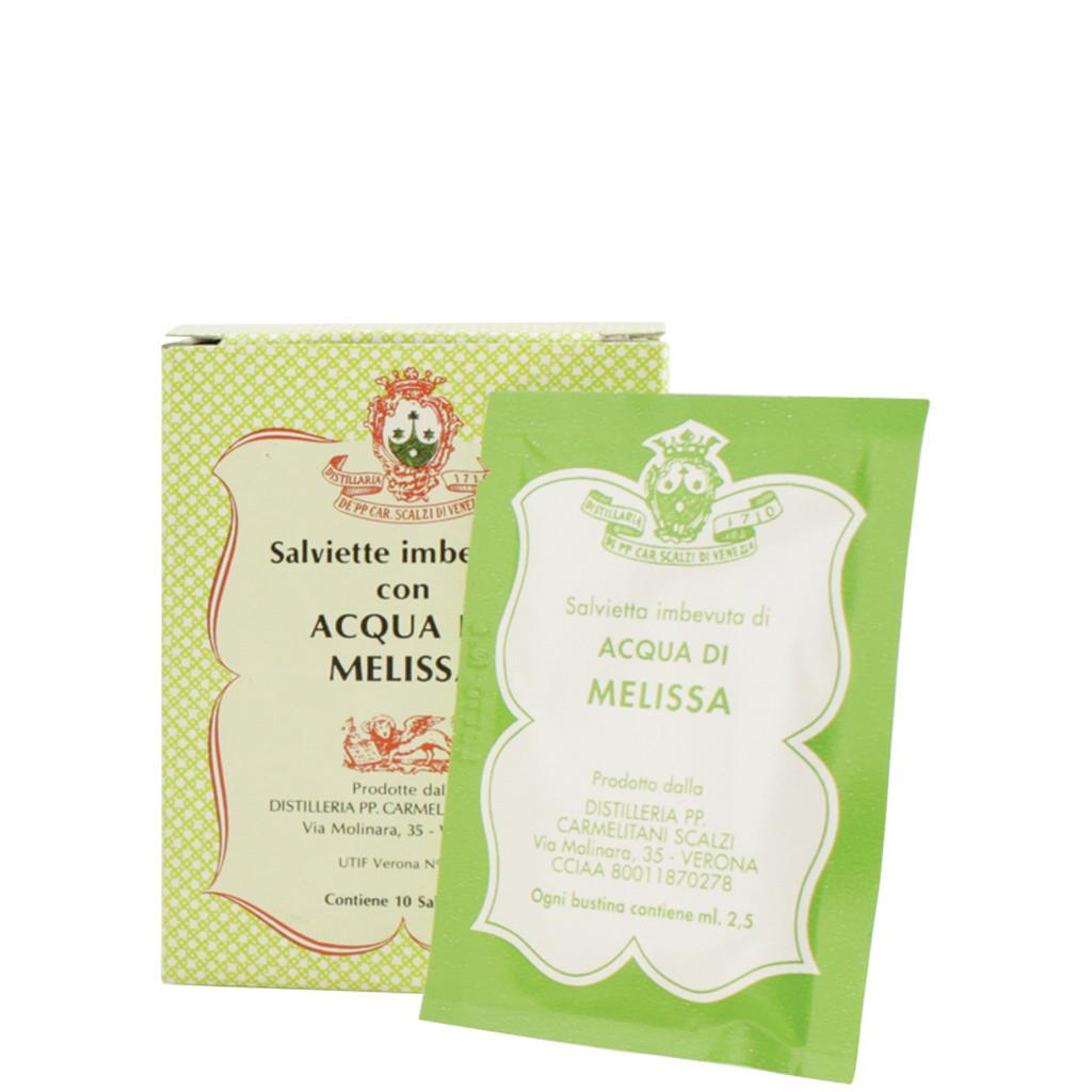 Lingettes imprégnées d'eau de Melissa, paquet de 10