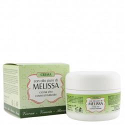 Crème à l'huile de mélisse pure pour le visage 50 ml