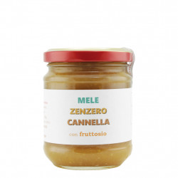 Confiture Pommes Gingembre Cannelle avec fructose 210 g