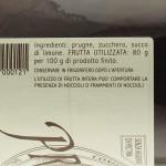 Confettura di Prugne Trappiste di Vitorchiano ingredienti