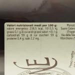 Confettura di Prugne Trappiste di Vitorchiano valori nutrizionali