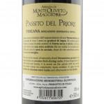Passito del Priore dei monaci Abbazia Monte Oliveto Maggiore etichetta