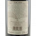 Vino Borbotto Rosso dei Monaci di Camaldoli etichetta retro